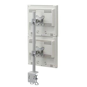 サンワダイレクト モニターアーム デュアル 上下2台設置タイプ デュアルモニターアーム 100-LA010