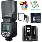 Godox v860ii-o TTL gn602.4G高速同期1/ 8000s Li - Ionバッテリーカメラフラッシュスピードライト+ Godox x1t-oワイヤレストリガ送信機for Olympus Panasonic + 15x 17cmソフトボックス&フィルタ+ USB LED無料ギフト