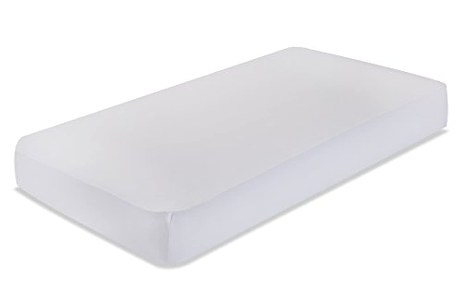 LA Baby Fitted Sheet for Full Size Crib, White by LA Baby [並行輸入品]