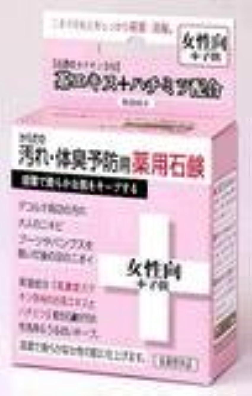 実用的苦行薄いですからだの汚れ?体臭予防用薬用石鹸 女性向+子供 80g