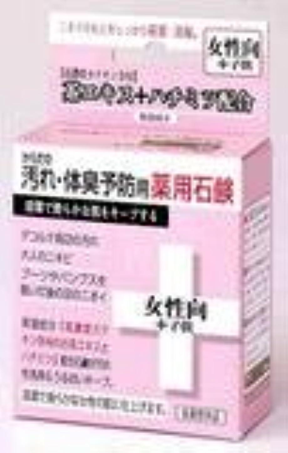 昆虫を見るドライバ原因からだの汚れ・体臭予防用薬用石鹸 女性向+子供 80g