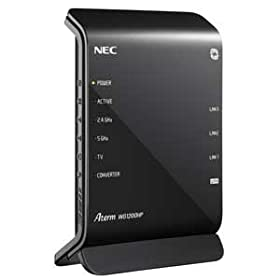 NEC Aterm WG1200HP 11ac/n/a(5GHz帯)&11n/g/b(2.4GHz帯) 無線LAN親機(Wi-Fiルーター) 同時利用タイプ 867+300Mbps PA-WG1200HP