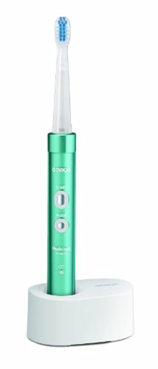オーバーフロー理想的にはさようならオムロン 電動歯ブラシ メディクリーン 音波式 ブルー HT-B473-B