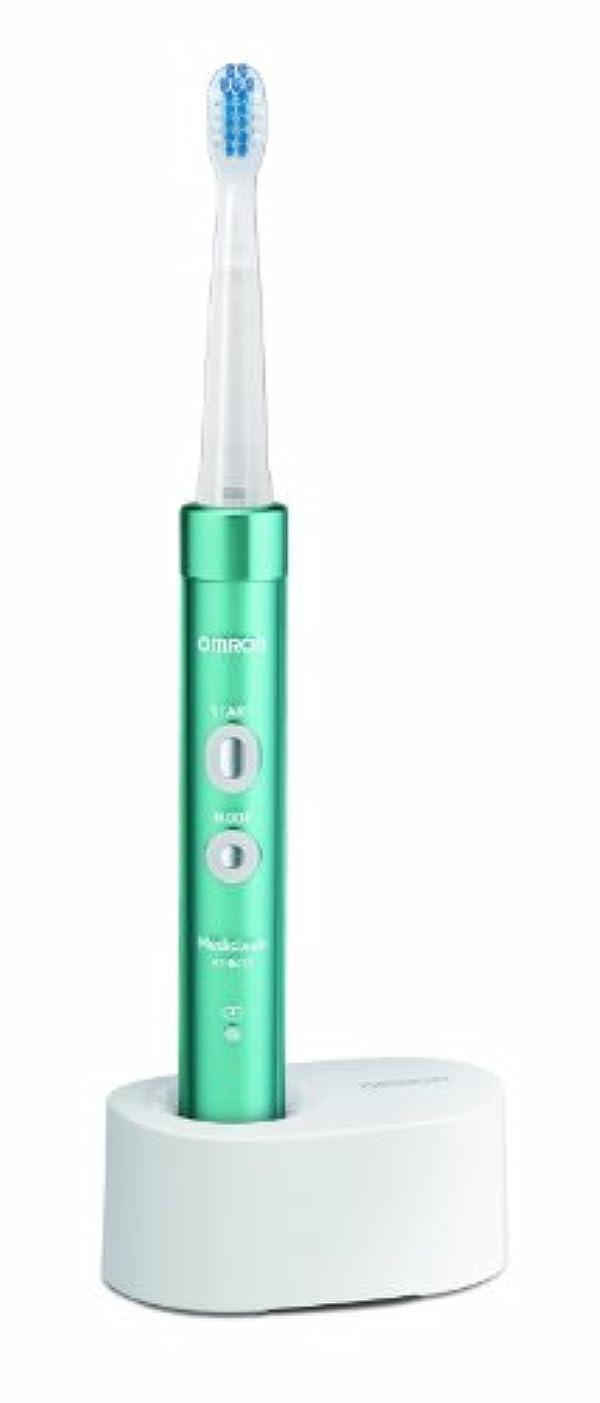 ひばり新鮮な熟すオムロン 電動歯ブラシ メディクリーン 音波式 ブルー HT-B473-B