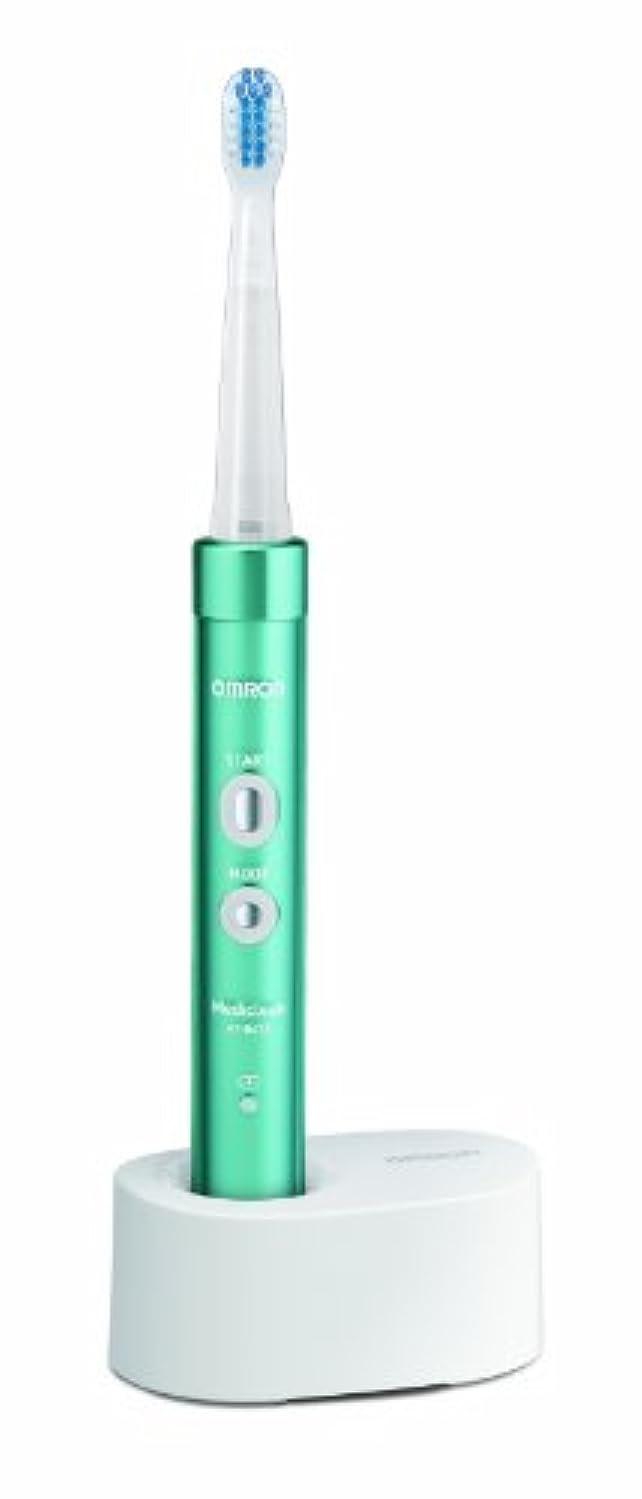 チョップ測るぶら下がるオムロン 電動歯ブラシ メディクリーン 音波式 ブルー HT-B473-B
