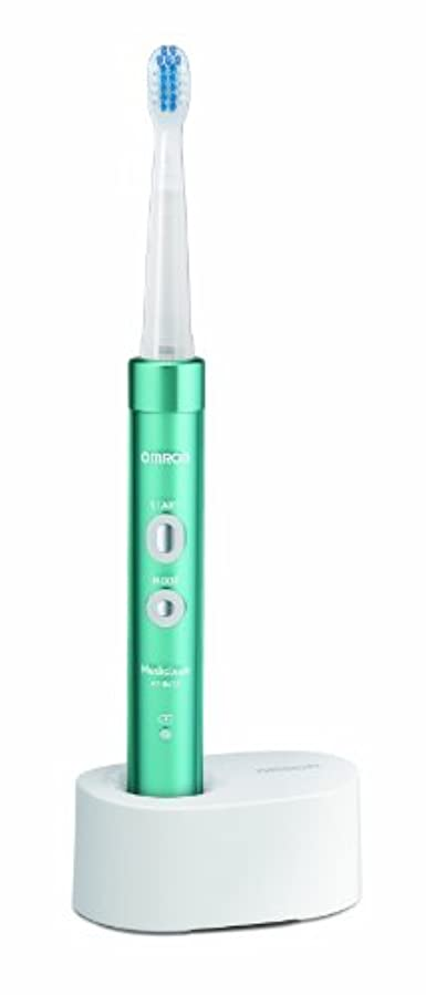 郊外復讐提供されたオムロン 電動歯ブラシ メディクリーン 音波式 ブルー HT-B473-B
