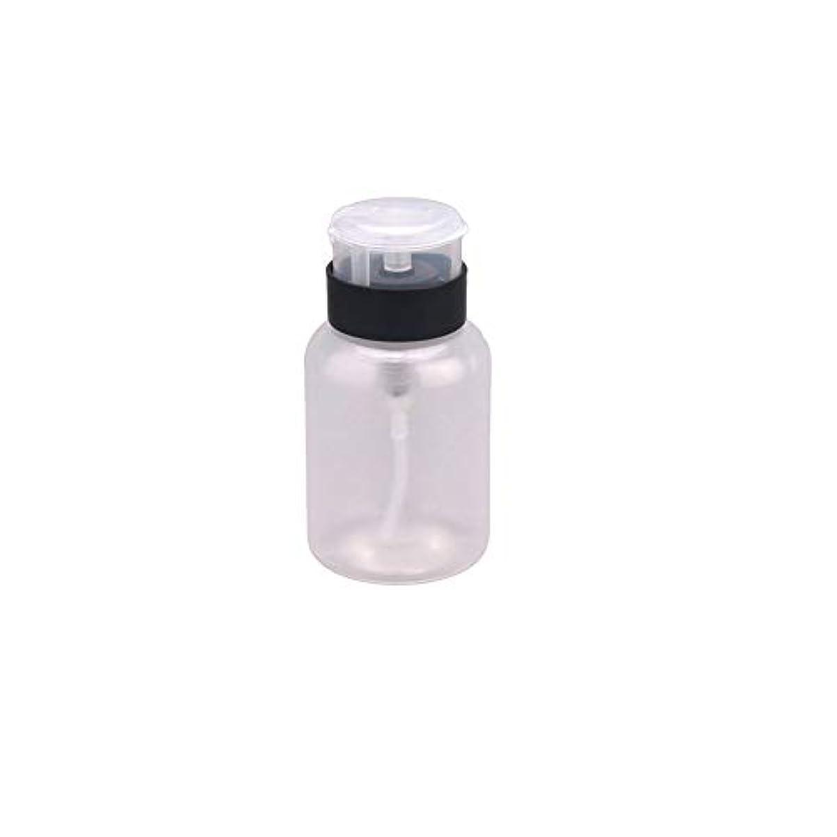 210ML MultifuktionディスペンサーポンプクレンザーBottlePushネイルポリッシュリムーバーアルコールボトルダウン液体エミッタのボトルは、ボトルのネイルポリッシュリムーバー液体ボトル容器のforoils...