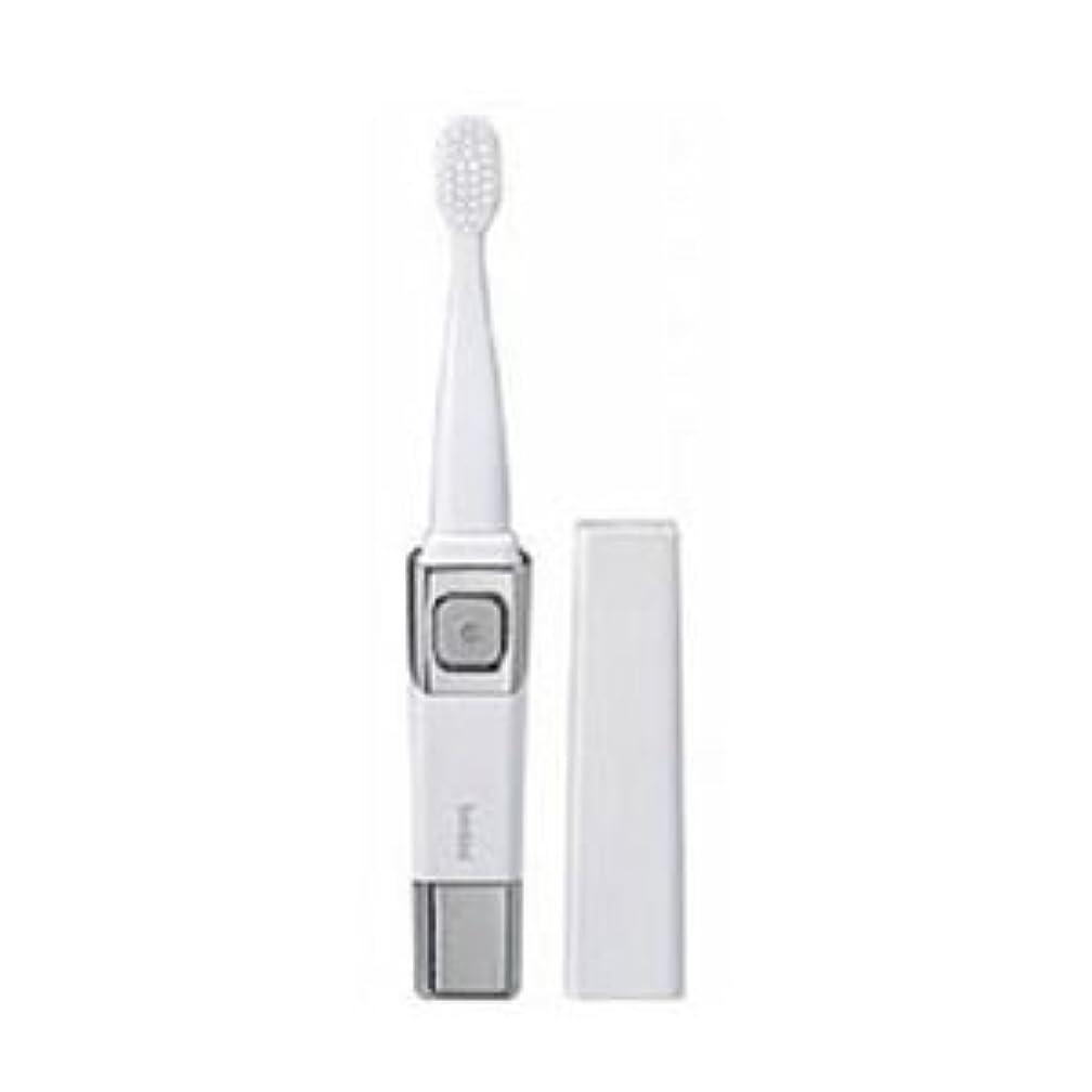 ピック干渉読みやすい(まとめ)ツインバード 音波振動歯ブラシ パールホワイト BD-2755PW【×3セット】