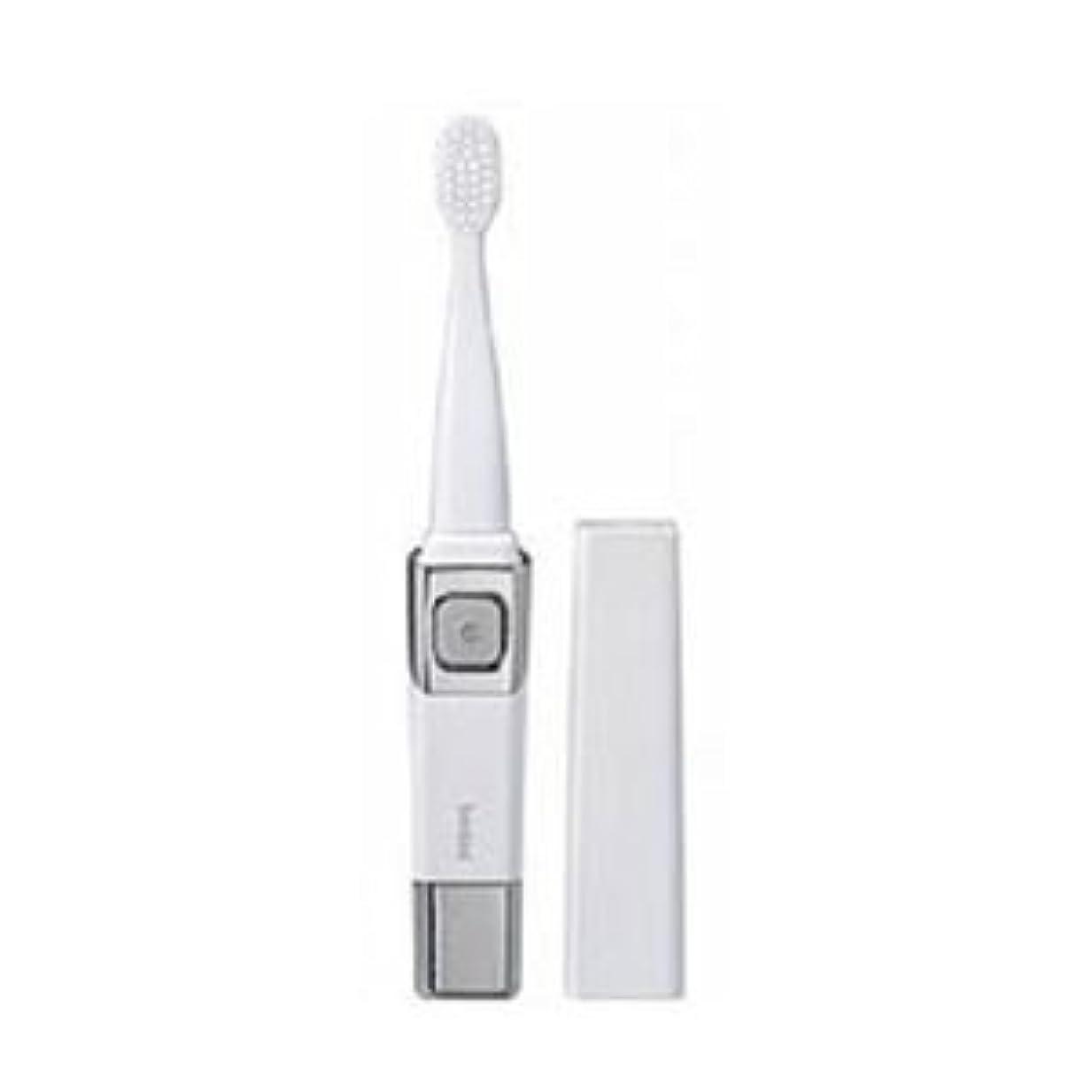 刺激する捧げる本質的に(まとめ)ツインバード 音波振動歯ブラシ パールホワイト BD-2755PW【×3セット】