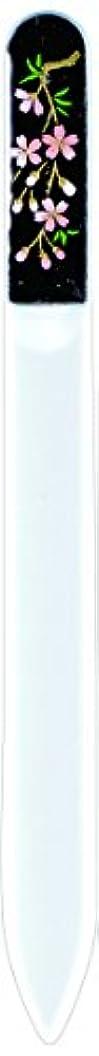 何か闘争写真を描く橋本漆芸 ブラジェク製高級爪ヤスリ しだれ桜 紙箱