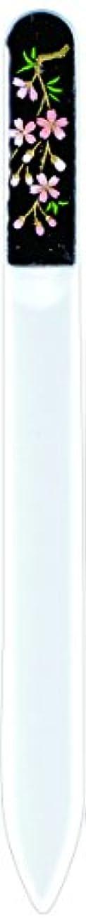 最終一回オリエント橋本漆芸 ブラジェク製高級爪ヤスリ しだれ桜 紙箱