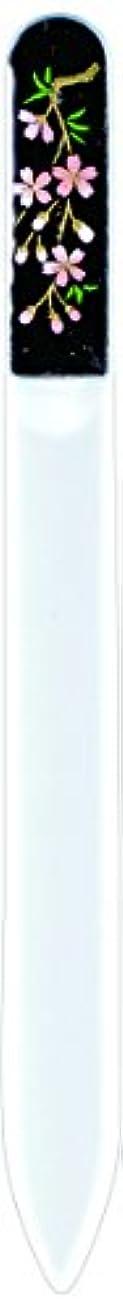 原子炉精神医学入力橋本漆芸 ブラジェク製高級爪ヤスリ しだれ桜 紙箱