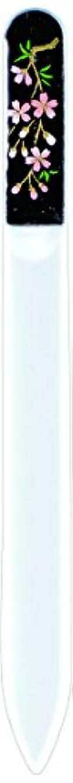 サークルと組む群衆橋本漆芸 ブラジェク製高級爪ヤスリ しだれ桜 紙箱