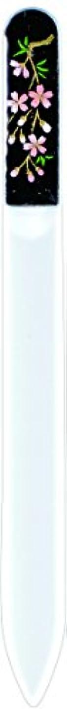 ガチョウ最も転用橋本漆芸 ブラジェク製高級爪ヤスリ しだれ桜 紙箱