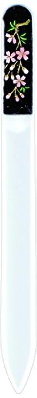 質素な広告威信橋本漆芸 ブラジェク製高級爪ヤスリ しだれ桜 紙箱