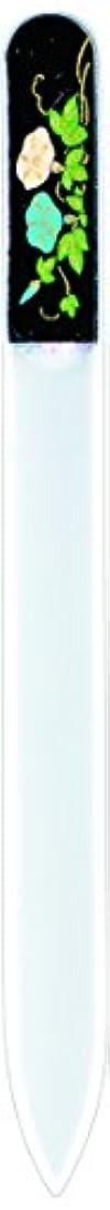 ランチョン空中モノグラフ橋本漆芸 ブラジェク製高級爪ヤスリ 七月 朝顔 OPP