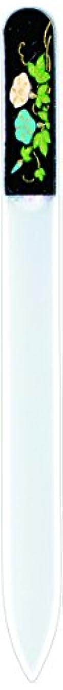ダース登山家ナサニエル区橋本漆芸 ブラジェク製高級爪ヤスリ 七月 朝顔 OPP