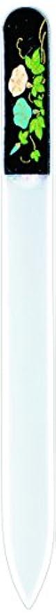 ビリー文字引退する橋本漆芸 ブラジェク製高級爪ヤスリ 七月 朝顔 OPP