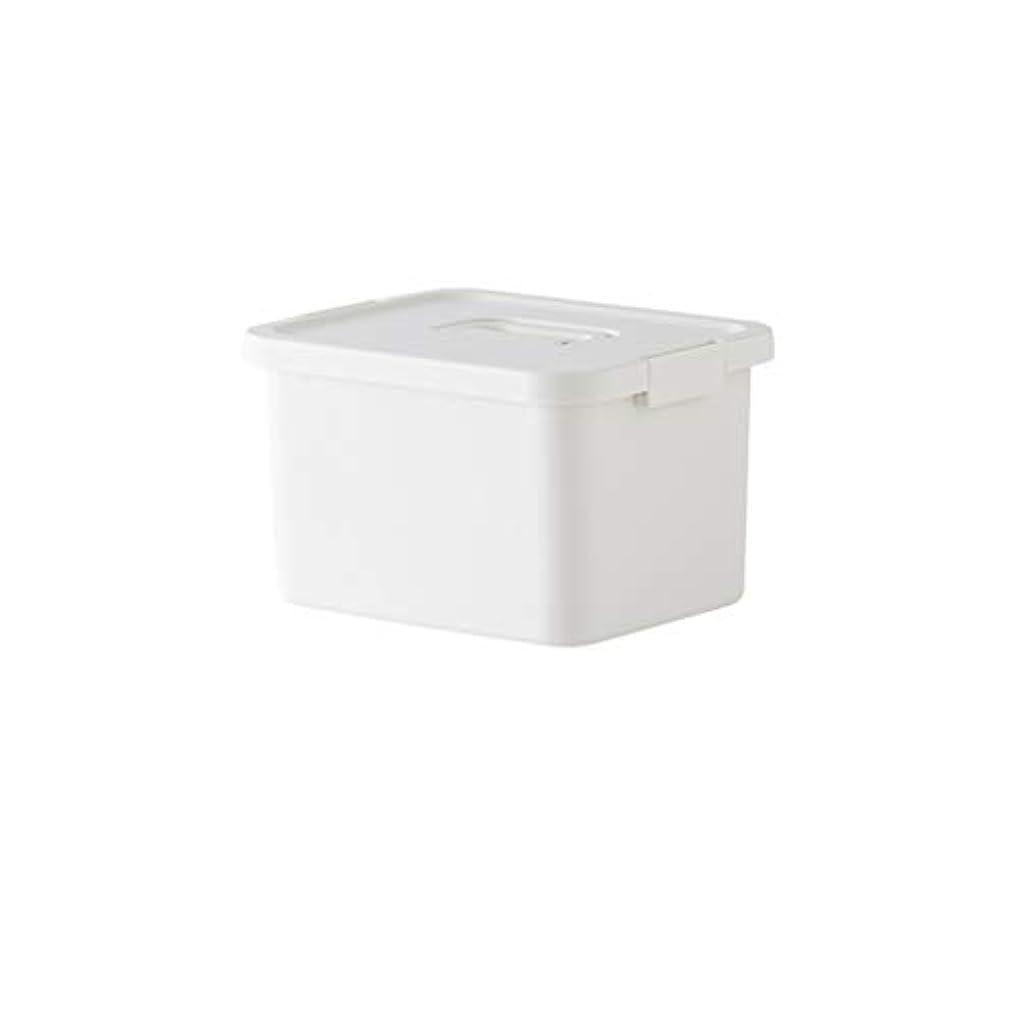 ほとんどないプログラム囲い家庭用多層大容量薬箱家庭用重層薬ボックス収納箱携帯用薬収納ボックス 薬箱 (Color : White, Size : 25.8cm×19.8cm×18.1cm)