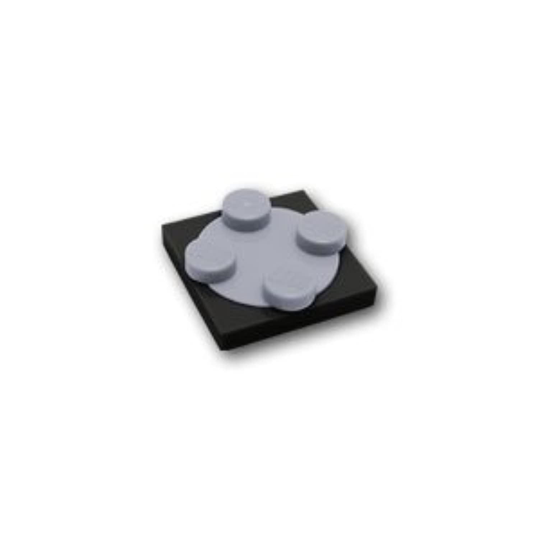 レゴブロックパーツ プレート 2 x 2 ターンテーブルセット:[Black / ブラック]【並行輸入品】