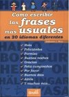 Como escribir las frases mas usuales en 20 idiomas diferentes/ How to Write The Most Used Phrases in 20 different Languages