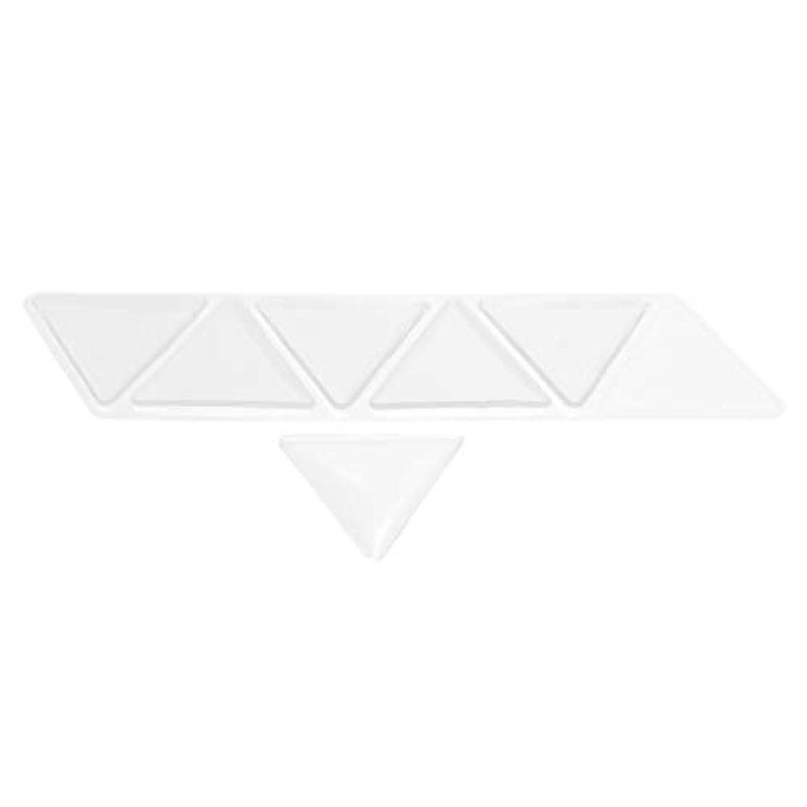 怒っているチャネルリハーサルHellery 額パッド シリコン 透明 額スキンケア 再利用可能な 目に見えない 三角パッド 6個セット