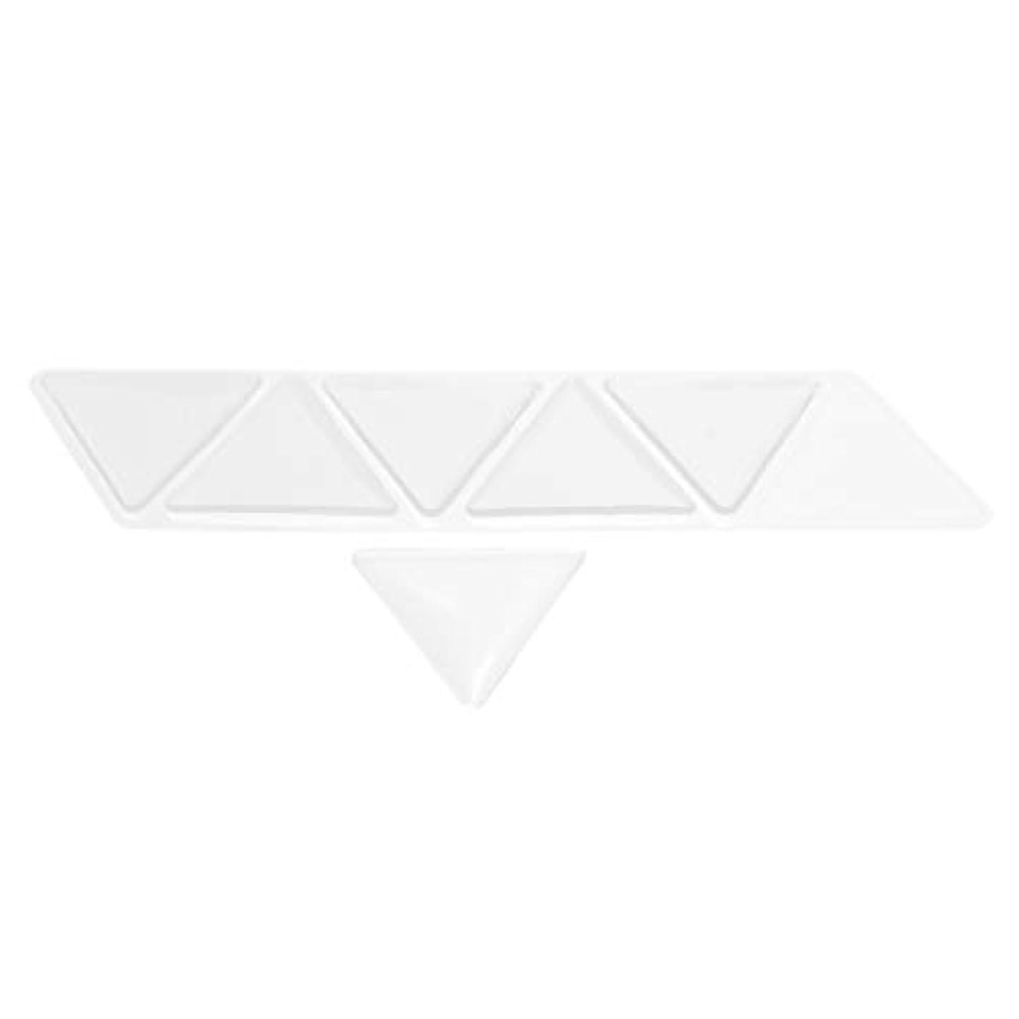 強調する軽く創始者額パッド シリコン 透明 額スキンケア 再利用可能な 目に見えない 三角パッド 6個セット