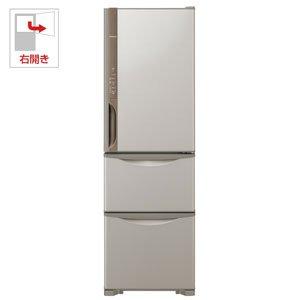 日立 冷蔵庫 315L 3ドア 右開き R-K32JV T 幅54.0cm 奥行65.5cm まんなか野菜タイプ うるおいチルド うるおい野菜室 ライトブラウン