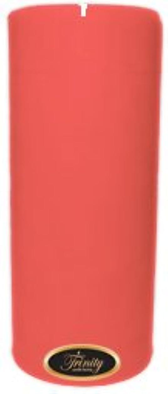 火山相手クラシカルTrinity Candle工場 – ベビーパウダー – ピンク – Pillar Candle – 4 x 9