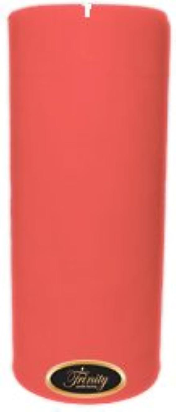 コールド矩形伝統的Trinity Candle工場 – ベビーパウダー – ピンク – Pillar Candle – 4 x 9