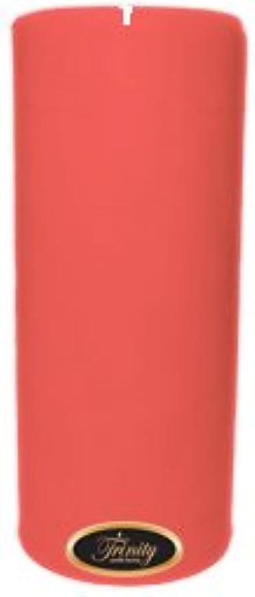 落ち着くふざけたセマフォTrinity Candle工場 – ベビーパウダー – ピンク – Pillar Candle – 4 x 9