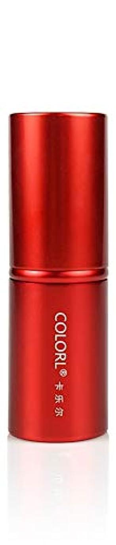 北方レンディション構想するCOLORL メイクブラシ 1本 化粧ブラシ 化粧筆 ファンデーションブラシ フェイスブラシ パウダーブラシ 多機能 レッド