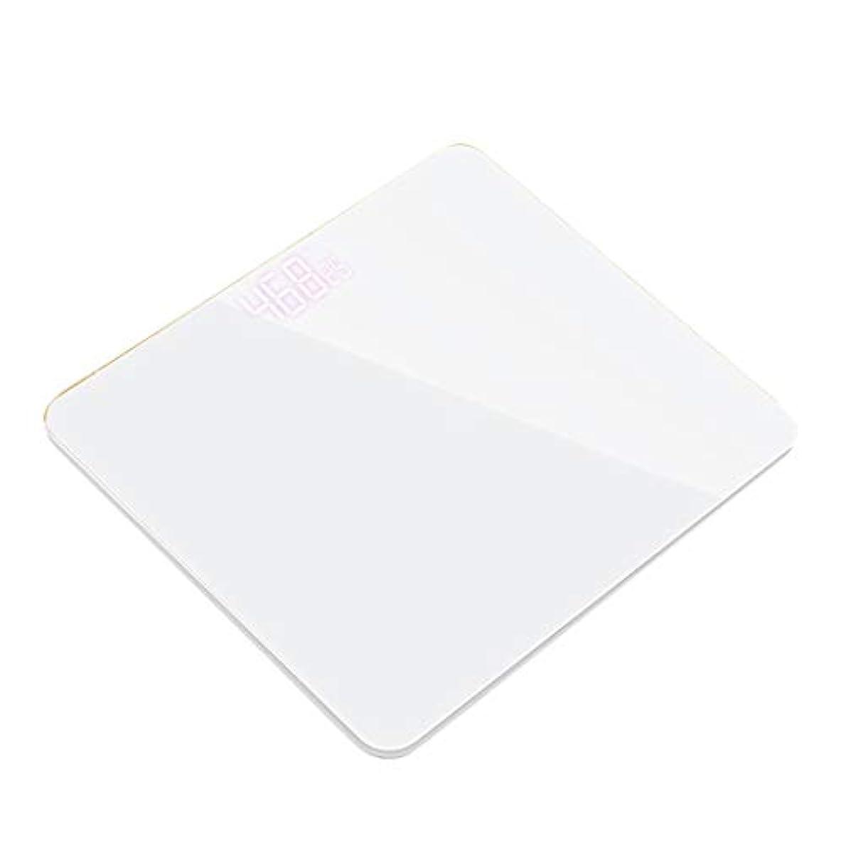 疎外するセラー辞任する体重計充電式USB電子体重計正確な体重計家庭用体重計成人の体重減少重量を量る ZHJING (Color : White)