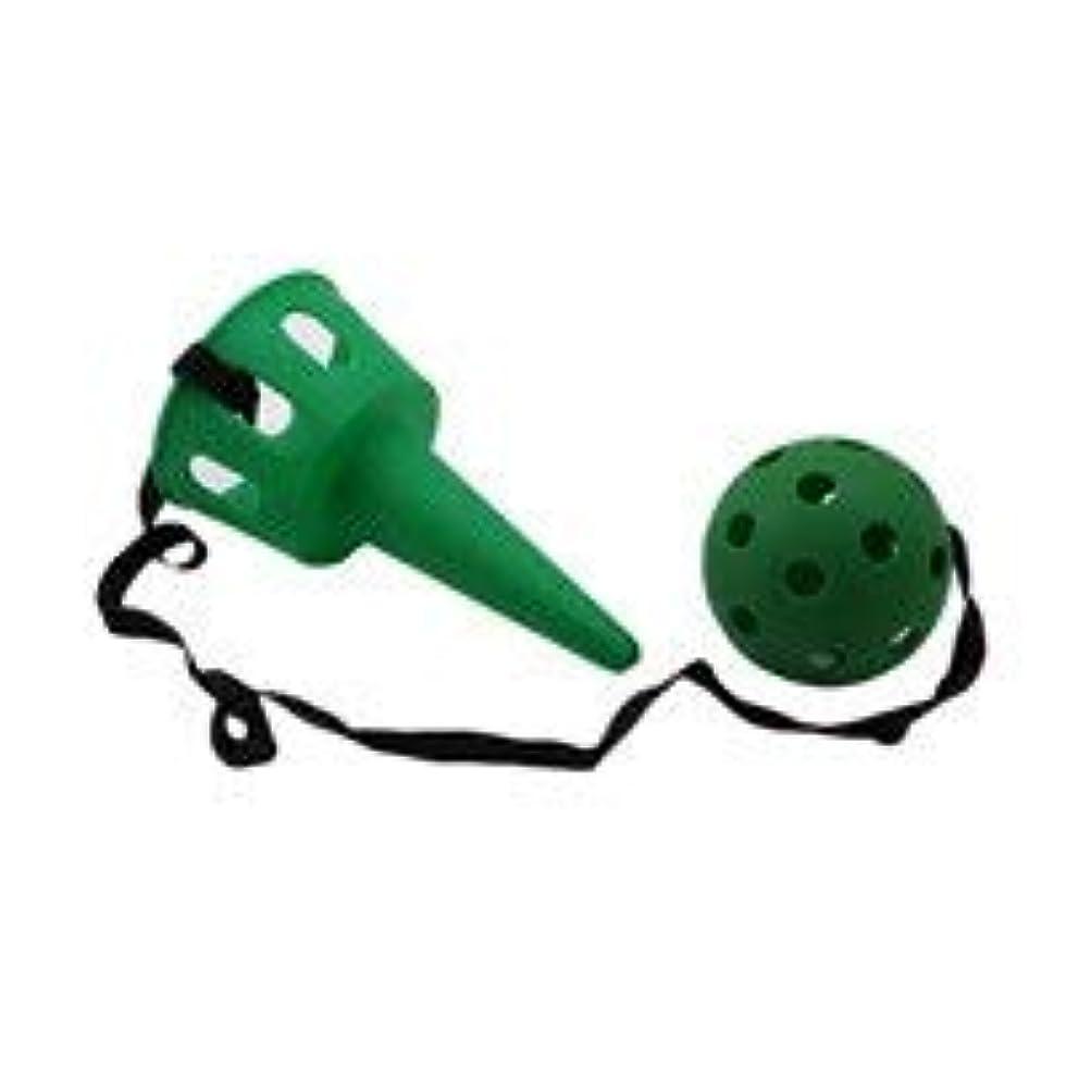 嘆願国勢調査病SHYQC 楽しいボールと子どもの屋外用カップ玩具セットは初心者の子供の運動技能玩具用ボールゲームおもちゃソフトボールけん玉を投げてキャッチ (Color : Green)