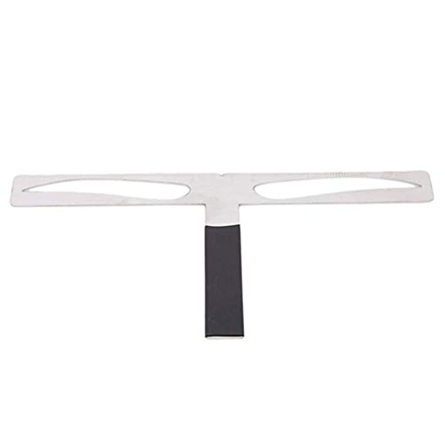 ラベンダー三角槍1st market プレミアム品質1ピースT字型ストレートまゆステンシルキャリパーポジショニングメイクアップP眉バランスバランス定規