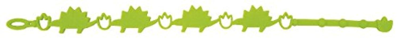 最も遠い不振無力おしゃれで可愛いダイカットハーブブレスサンタン ハーブブレス子供用虫よけ ダイナソー×ライトグリーン