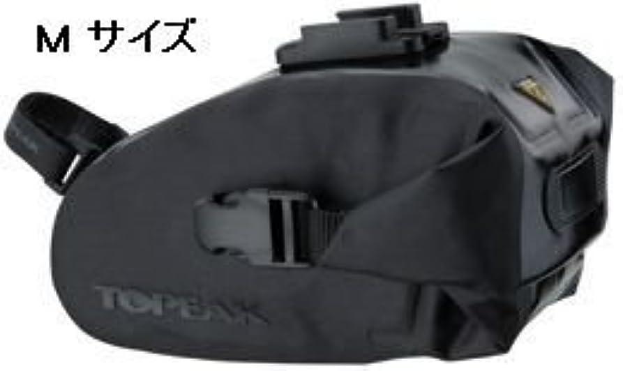上流のボイコット虹TOPEAK Wedge DryBag (QuickClick) M size (サドルバッグ) トピーク ウェッジドライバッグ (クイッククリック) Mサイズ 防水仕様 (コード番号:BAG27001) Mサイズ(BAG27001)