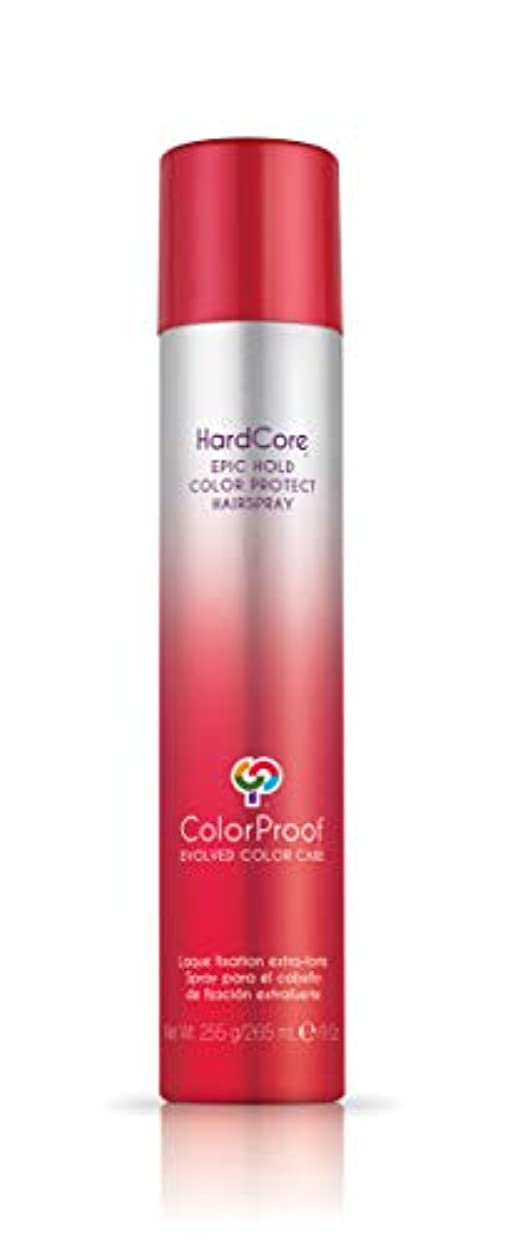 実験室汗ちょうつがいColorProof Evolved Color Care ColorProof色ケア当局ハードコアエピックカラーは、ヘアスプレーを守るホールド、9オズ オレンジ