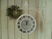 RoomClip商品情報 - ★・OLD STREET BOTHSIDE CLOCK(L) WH  両面時計: