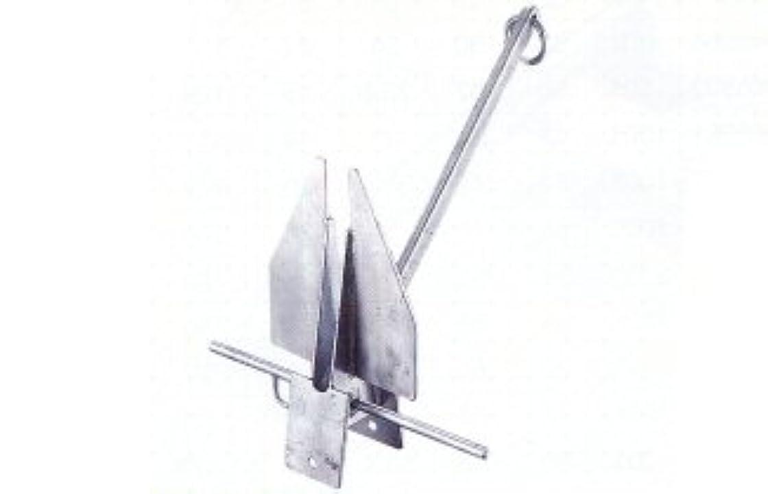 接触軍艦哺乳類ダンホース型アンカー (鍛造打)亜鉛メッキ20kg