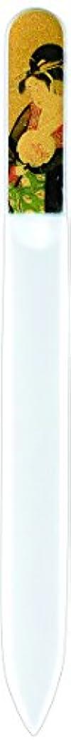 影響する成功した断線橋本漆芸 ブラジェク製高級爪ヤスリ 特殊プリント加工 美人納涼図 OPP