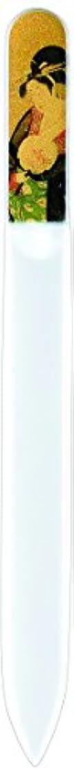 男やもめ資本斧橋本漆芸 ブラジェク製高級爪ヤスリ 特殊プリント加工 美人納涼図 OPP