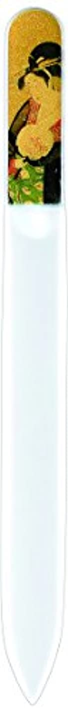 モンク入学する不調和橋本漆芸 ブラジェク製高級爪ヤスリ 特殊プリント加工 美人納涼図 OPP