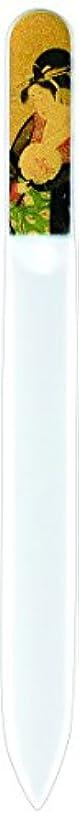 チューブ壊す白い橋本漆芸 ブラジェク製高級爪ヤスリ 特殊プリント加工 美人納涼図 OPP