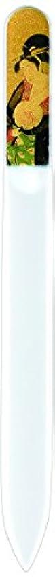 パラシュート溶かす円形の橋本漆芸 ブラジェク製高級爪ヤスリ 特殊プリント加工 美人納涼図 OPP
