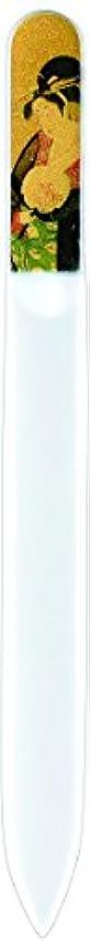 シングル器用すすり泣き橋本漆芸 ブラジェク製高級爪ヤスリ 特殊プリント加工 美人納涼図 OPP