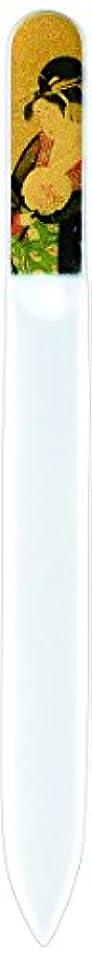 パッチ散歩に行く甘い橋本漆芸 ブラジェク製高級爪ヤスリ 特殊プリント加工 美人納涼図 OPP