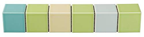 47mm角モザイクタイル コーナタイル 曲がり MIXカラー 明るくきれいなモザイクタイル 裏ネット張り メロンパン