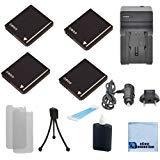 4dmw-bcf10Li - Ion充電式カメラ電池+車/ホーム充電器for Panasonic Lumix DMC - dmc-fx580、dmc-fx60、dmc-fx65、dmc-fx66、dmc-fx68、fx70、dmc-fx75、fx700、dmc-ts1、dmc-ts2カメラ& More +アクセサリー| cga-s/106b
