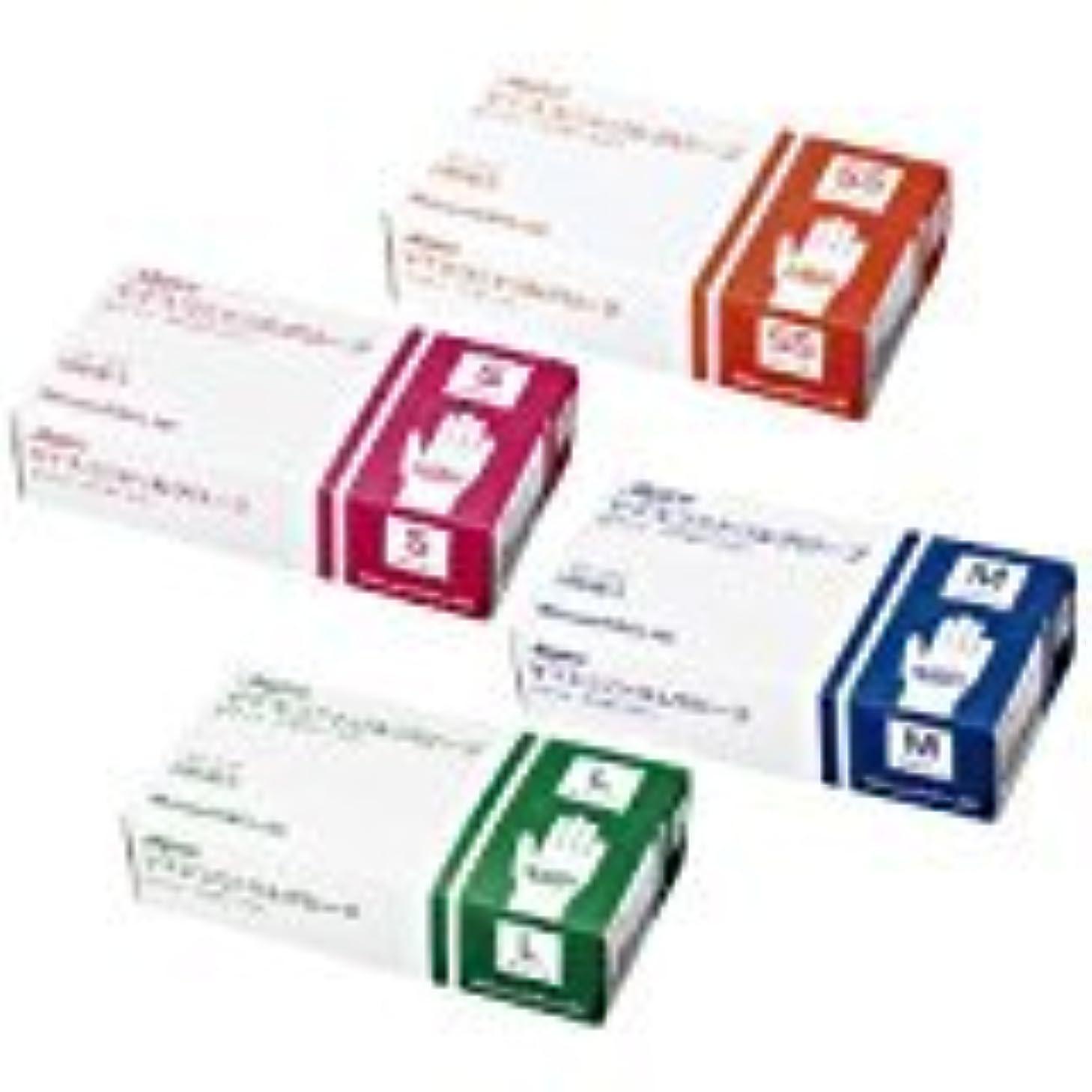 アラブサラボナサニエル区グリーンバックマイスコニトリルグローブ ホワイト MY-7553(L)100???? 10箱セット